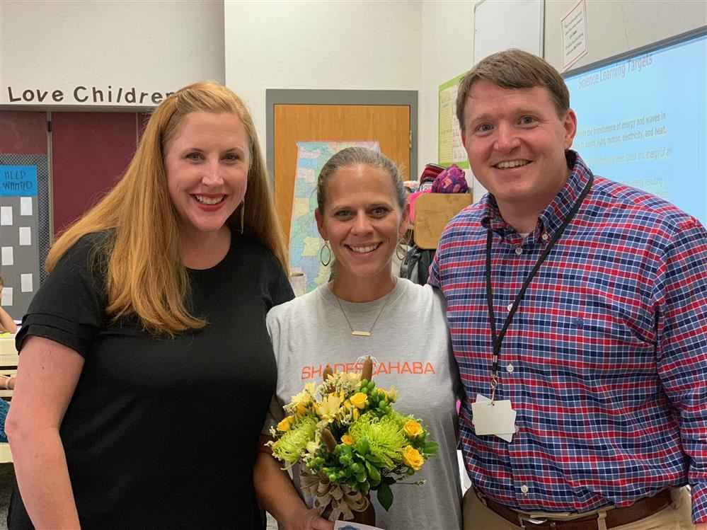 Congratulations to 4th grade teacher, Jennifer Harden, on being Shades Cahaba's Teacher of the year!