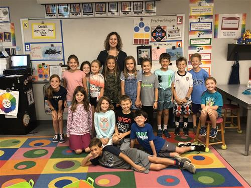 Mrs. Castle and her class