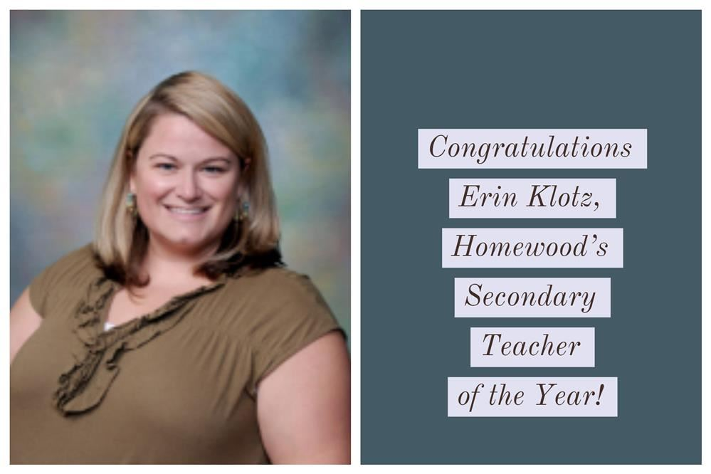 Homewood's Secondary Teacher of the Year